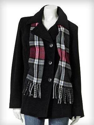 Croft & Barrow® Solid Wool Peacoat