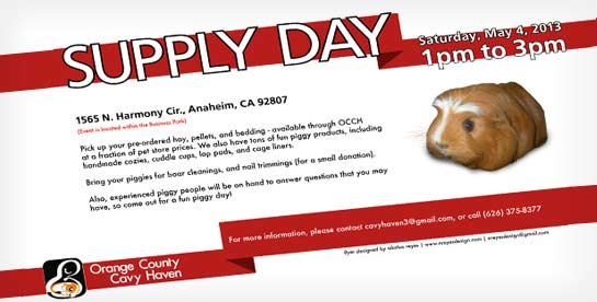 Orange County Cavy Haven Supply Day